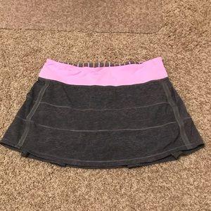 Women's Lululemon Gray and Pink Tennis Skirt!